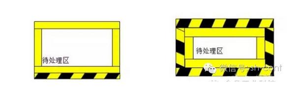 本公司常用地标线分单色、双色两种; 1、单色: 主要有 红、黄、绿等; 2、双色: 主要有 黄黑、 红白等。 颜色代表的意义: 1、红色主要应用在质量不合格区域,提醒员工对这些产品或者物料及时进行处理; 2、绿色主要应用在质量合格区域,提醒员工对这些产品或者物料及时正确处理; 3、黄色主要应用在工作区域,提醒员工在区域内作业,起定位的作用; 4、黄黑主要应用在车间通道划线,提醒不要占用通道,不要轻易进入通道外的区域; 5、红白主要应用在消防设施等划线,红色与白色相间条纹是表示禁止人们进入